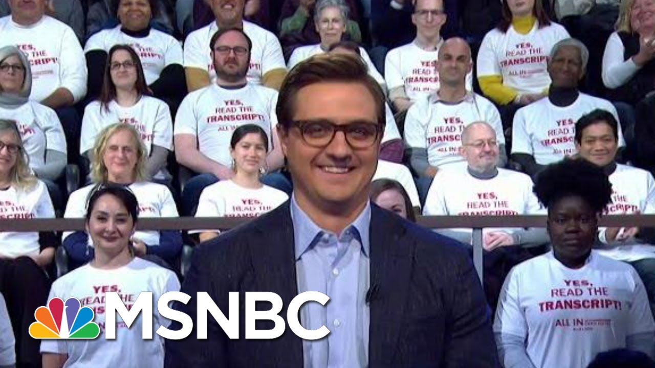 Chris Hayes: Yes, Read The Transcript! | All In | MSNBC 4