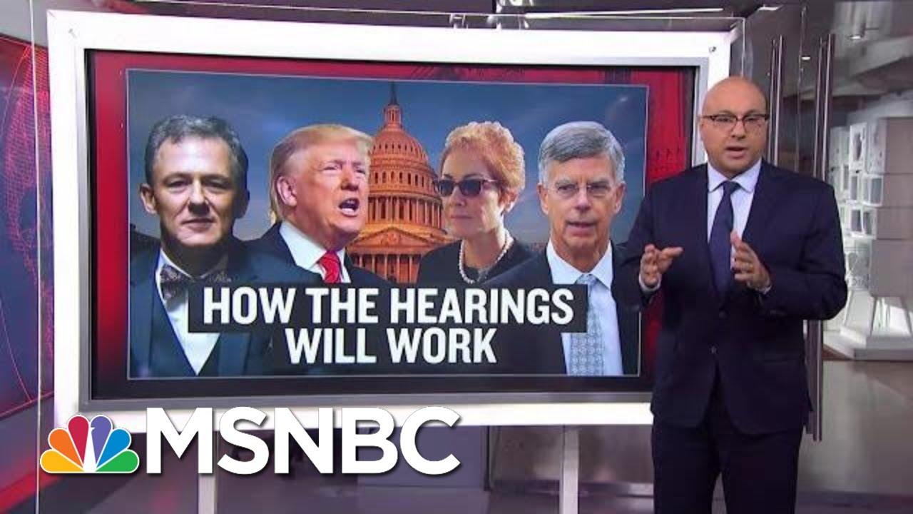 How Do Public Impeachment Hearings Work? | Velshi & Ruhle | MSNBC 6