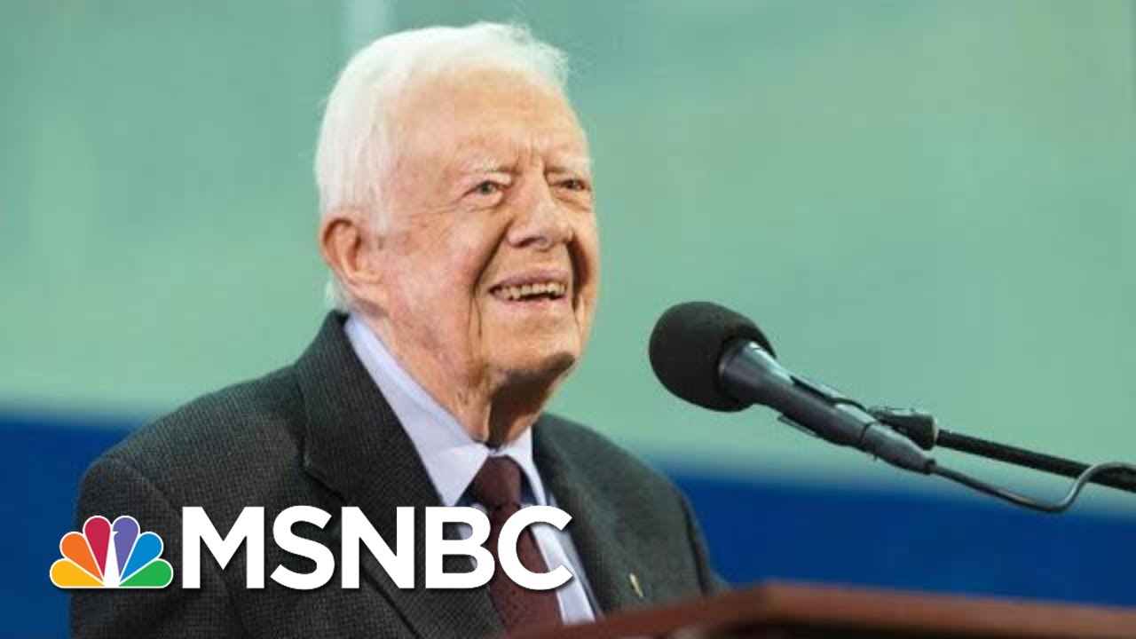Jimmy Carter Recovering At Georgia Hospital After Emergency Brain Surgery | Hallie Jackson | MSNBC 2