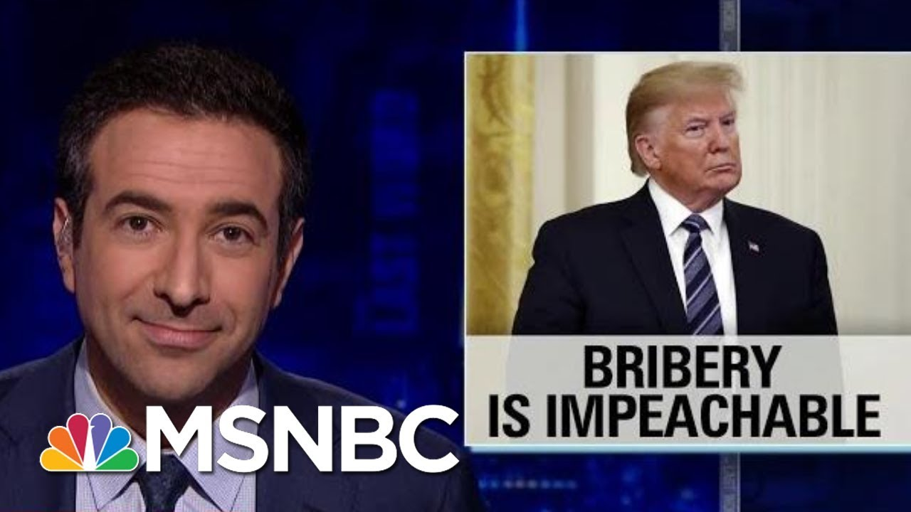 Rep. Adam Schiff: President Donald Trump Could Be Impeached For Bribery | The Last Word | MSNBC 4