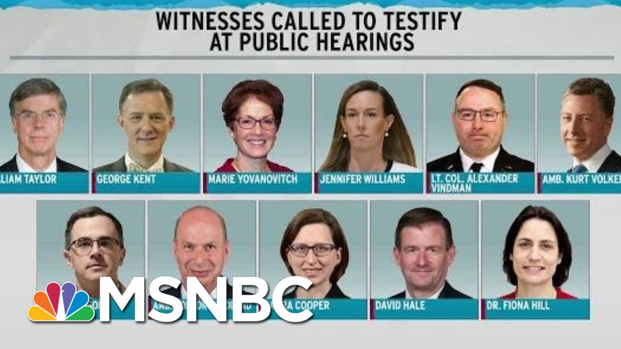 Schedule Set For Public Hearings In Trump Impeachment | Rachel Maddow | MSNBC 5