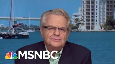 Jerry Springer: When Leaders Misbehave, It Tells Society We Have No Norms | Velshi & Ruhle | MSNBC 6