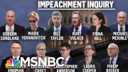 Day One Of The Public Phase Of President Donald Trump's Impeachment | Deadline | MSNBC 5