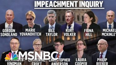 Day One Of The Public Phase Of President Donald Trump's Impeachment | Deadline | MSNBC 6