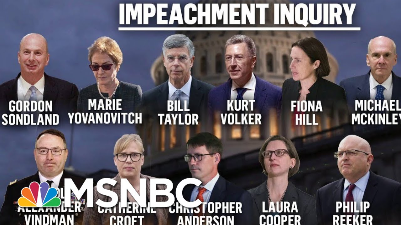 Day One Of The Public Phase Of President Donald Trump's Impeachment   Deadline   MSNBC 1