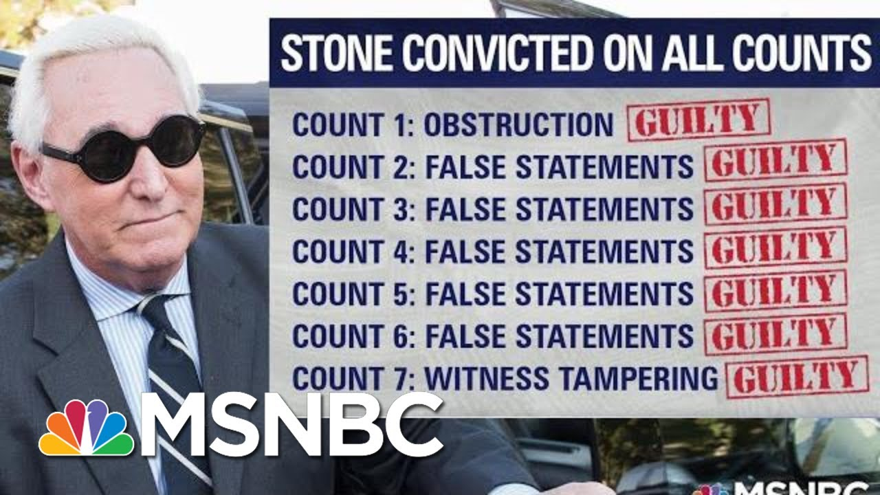 Roger Stone's Conviction A Warning For Gordon Sondland | The Last Word | MSNBC 3