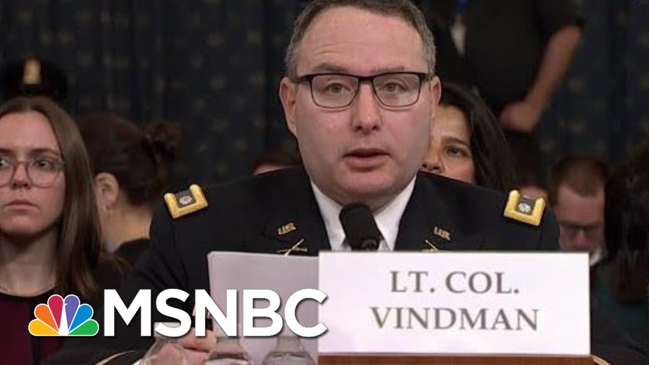 Vindman: Dad Made Right Choice To Leave Soviet Union. I Will Be Fine For Telling The Truth. | MSNBC 3