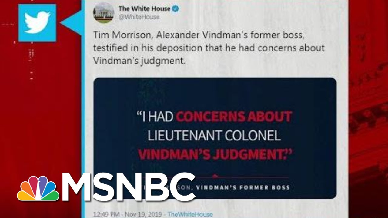 Price: White House Used Taxpayer Dollars To Tweet From Official Account And Smear A Patriot | MSNBC 12