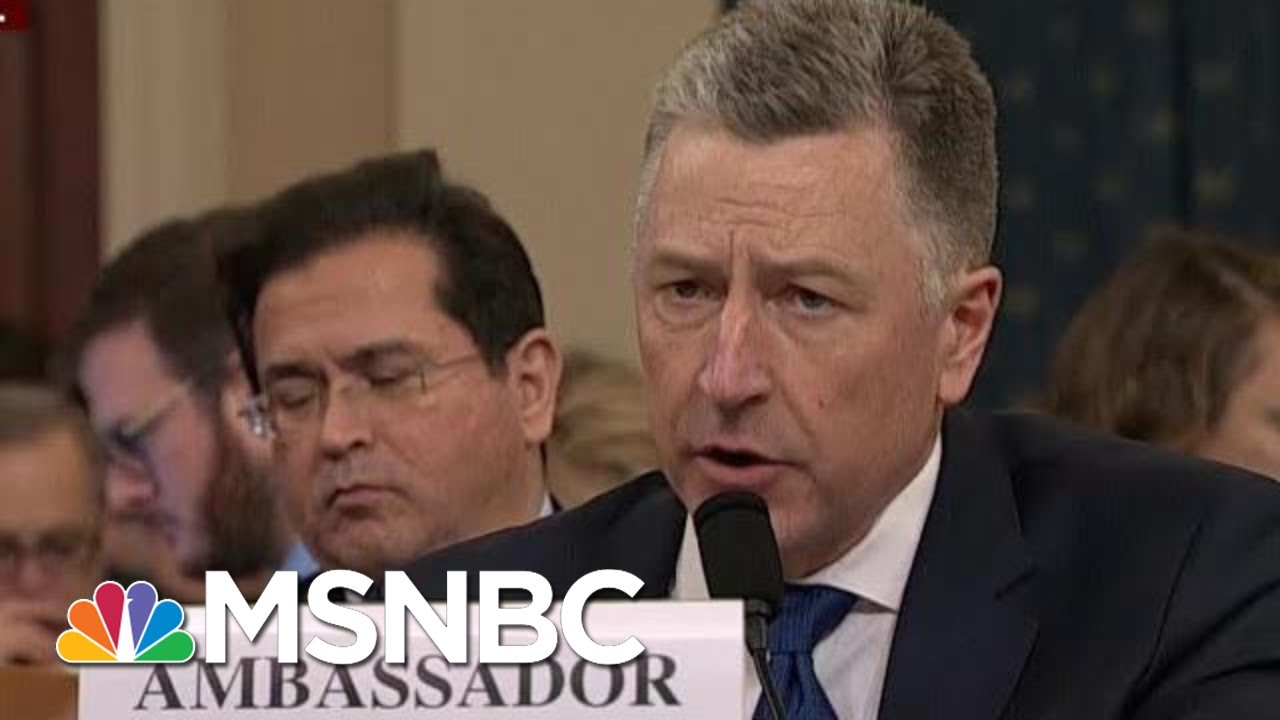 Kurt Volker Revises Previous Testimony Discrepancies | Morning Joe | MSNBC 6
