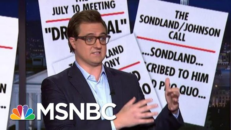 Chris Hayes Presents 9 Pieces Of Evidence Of Quid Pro Quo | All In | MSNBC 1