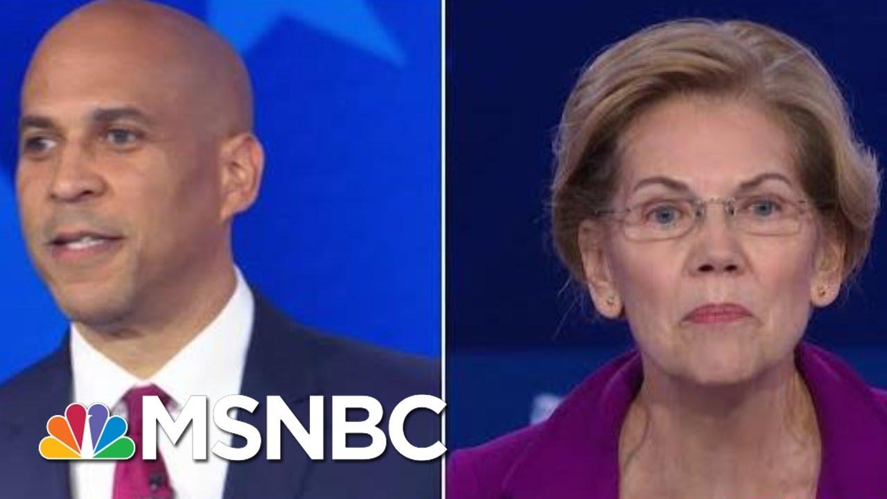 Cory Booker Criticizes Elizabeth Warren's 'Cumbersome' Wealth Tax | MSNBC 4