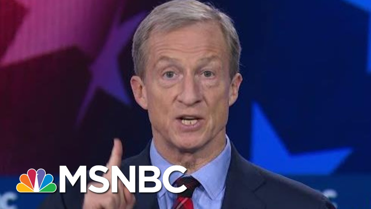 Tom Steyer, Joe Biden, And Bernie Sanders Spar On Climate Change | MSNBC 3