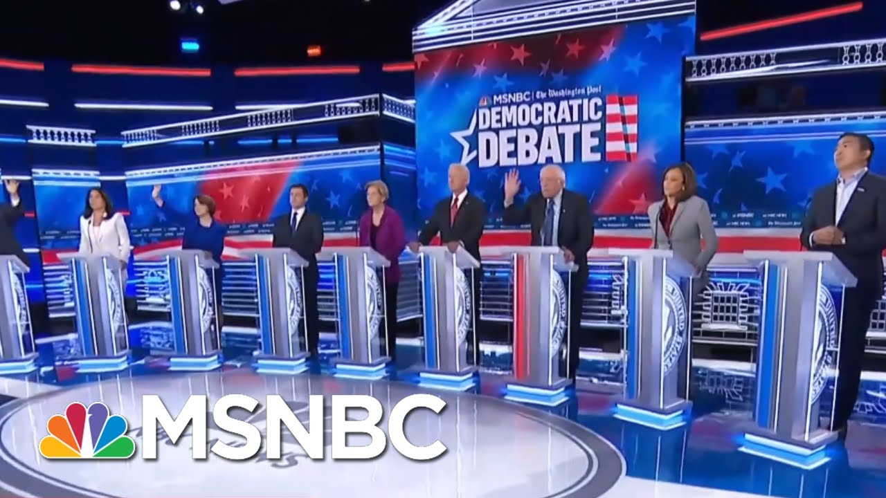 Democratic Rivals United Against Trump At Democratic Debate - Day That Was | MSNBC 10
