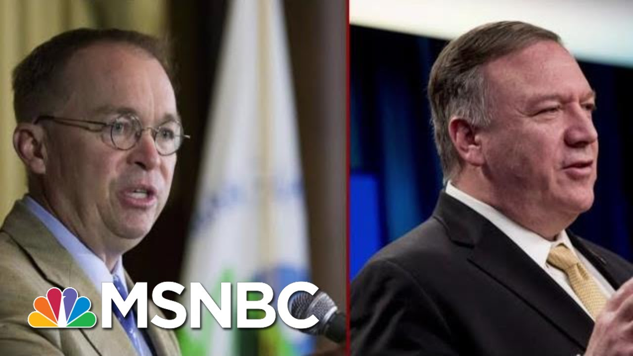Two Central Figures Face New Scrutiny In The Impeachment Inquiry | Deadline | MSNBC 8