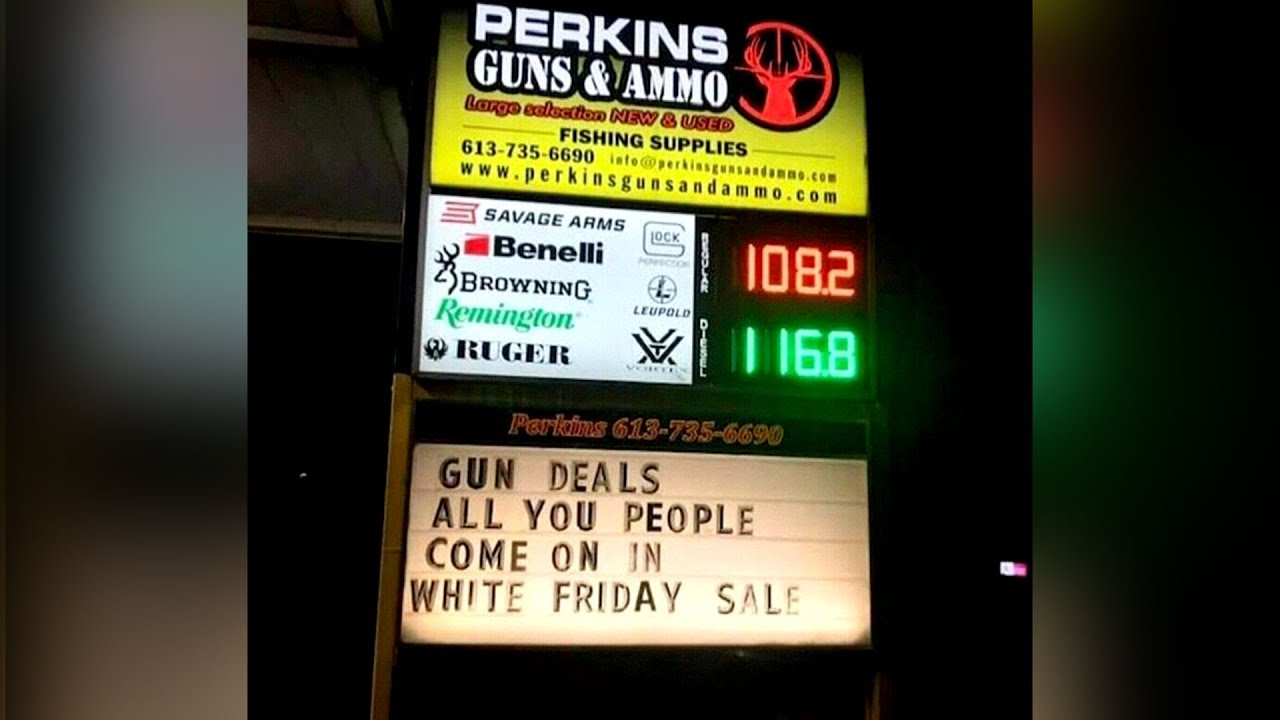 Gun store advertises 'White Friday' sale, owner insists he's not racist 1