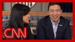 Evelyn Yang joins 2020 hopeful husband Andrew for their first joint interview 4