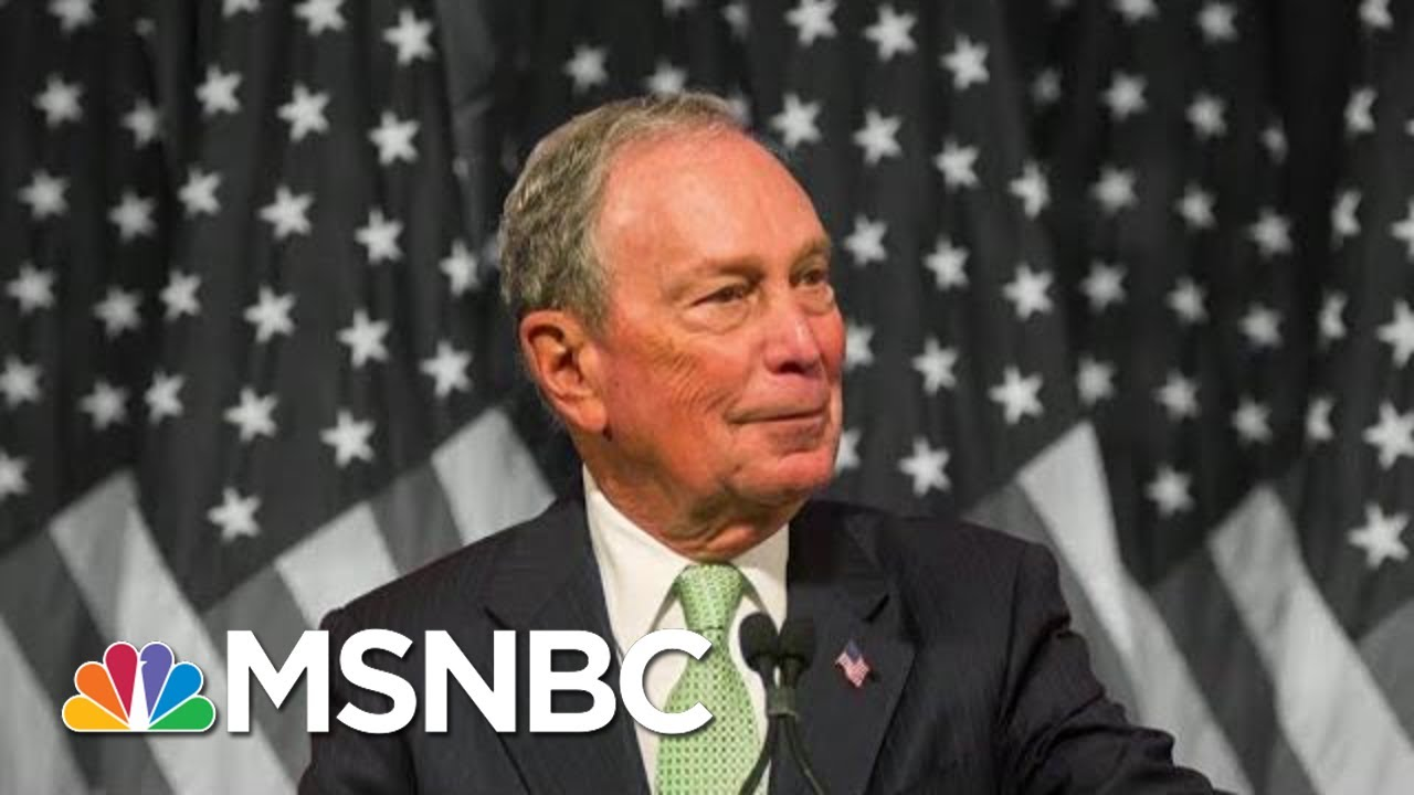 Reporter To Billionaire Dem Bloomberg: Are You Trying To Buy The Presidency? | The 11th Hour | MSNBC 10