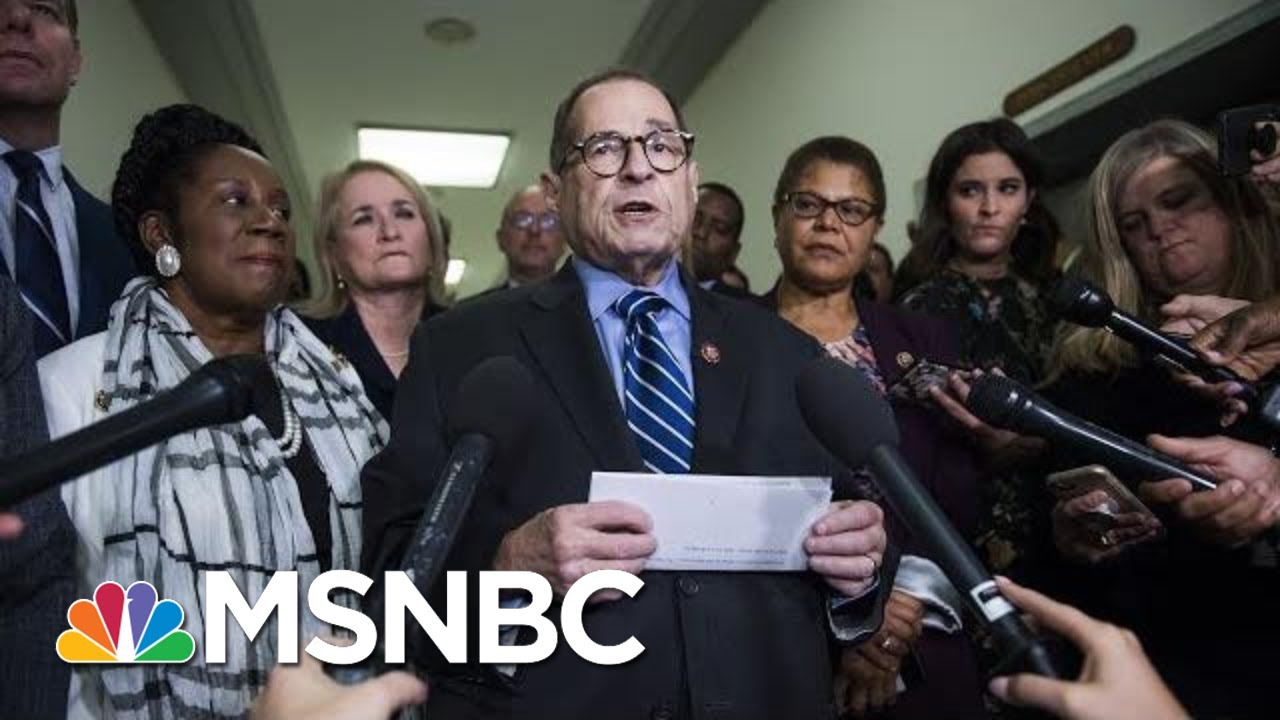 House Judiciary Committee Announces Next Impeachment Hearing | Velshi & Ruhle | MSNBC 9