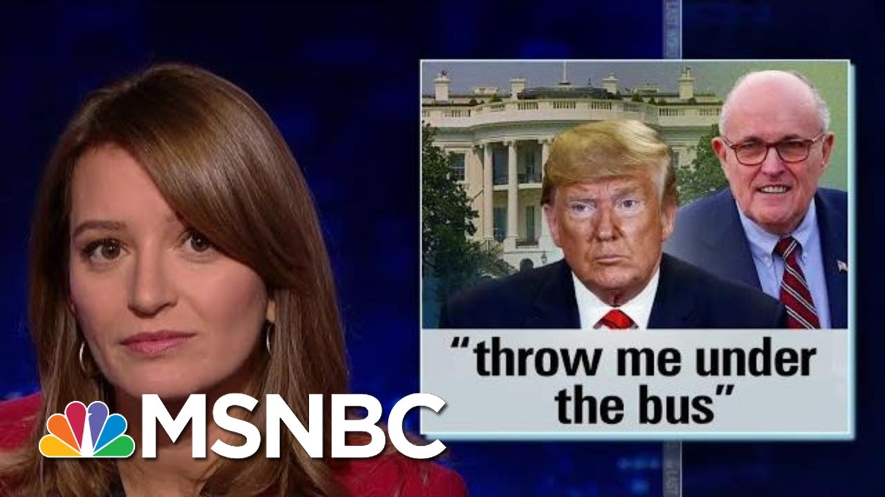 Trump Throws Rudy Giuliani Under The Bus With New Ukraine Comments | The Last Word | MSNBC 8