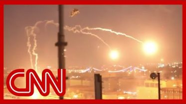 US helicopters release flares over Baghdad protesters 6