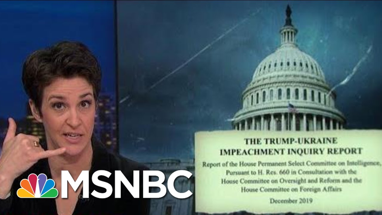 Impeachment Report Reveals Unexpected Calls Between Giuliani, OMB | Rachel Maddow | MSNBC 6
