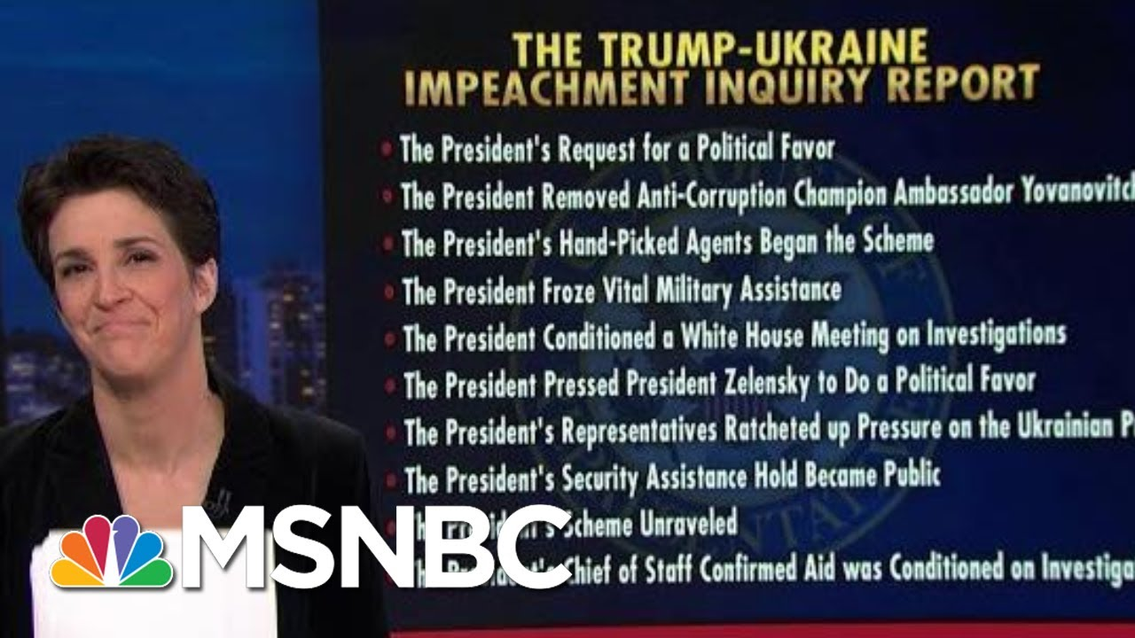 The Fastest, Easiest Way To Understand The Impeachment Report | Rachel Maddow | MSNBC 5