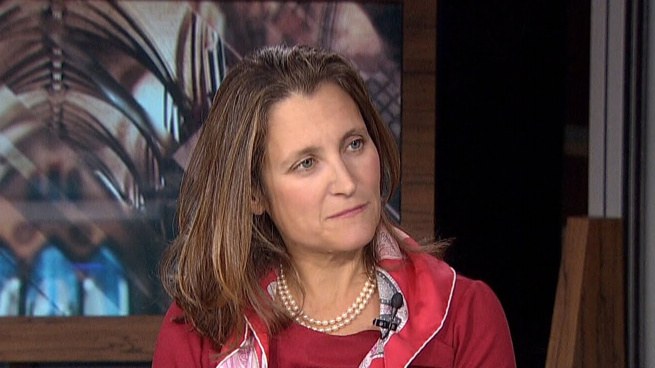 Chrystia Freeland says throne speech's message is that the government can 'get a lot done' 7