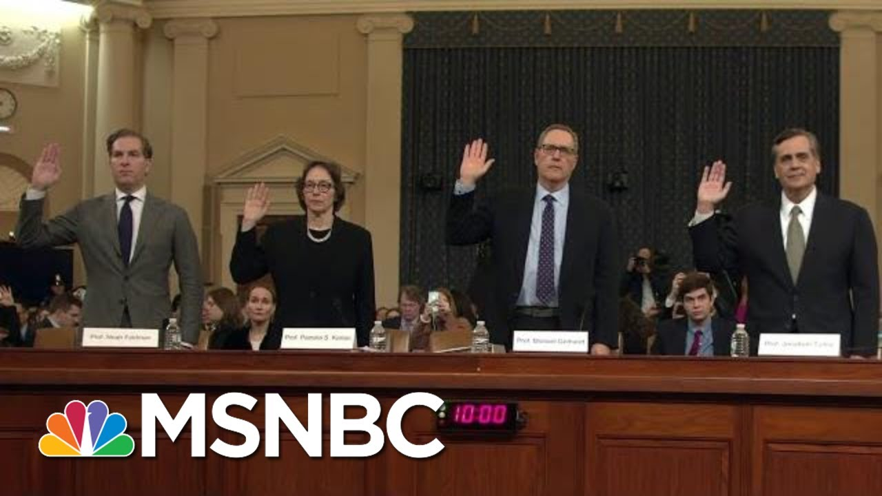 Giuliani Visits Ukraine As House Holds Impeachment Hearings On Ukraine Plot | MSNBC 4