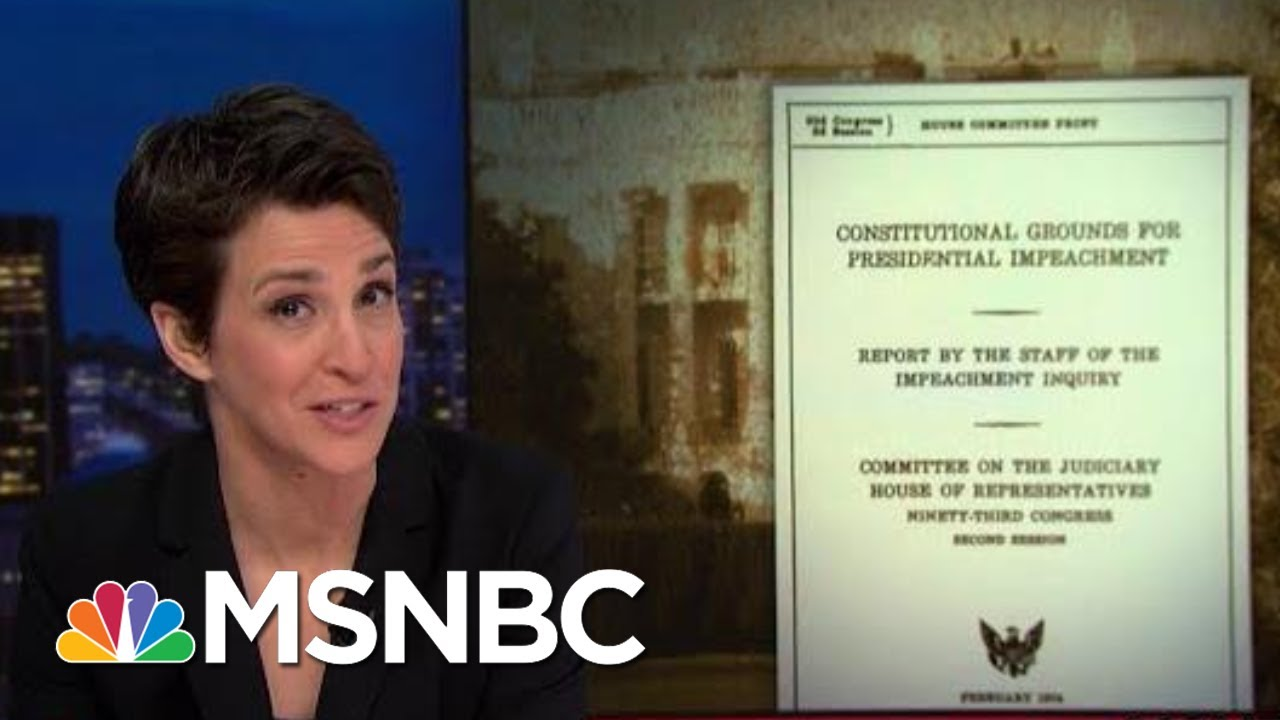 Impeachment Hearing Takes Vital Step Of Consulting Constitution | Rachel Maddow | MSNBC 14