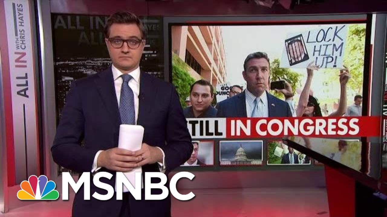GOP Congressman Still In Congress Despite Guilty Plea | All In | MSNBC 8