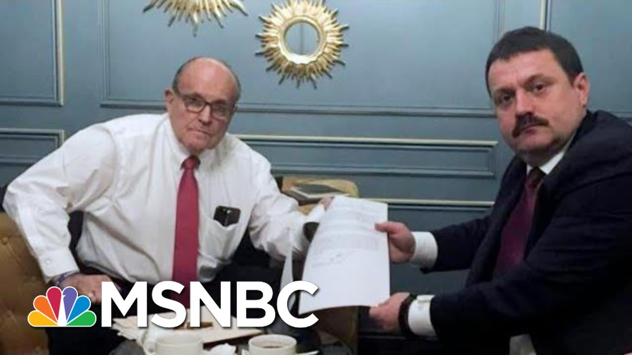 Giuliani Is Back In Ukraine Looking For Dirt On The Bidens For Trump | The 11th Hour | MSNBC 7