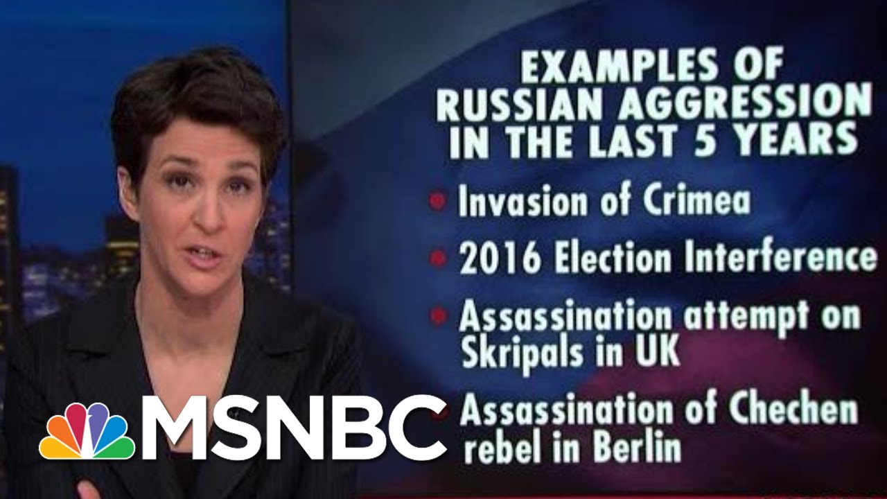 Russian Transgressions Met With increasingly Weak US Response | Rachel Maddow | MSNBC 13