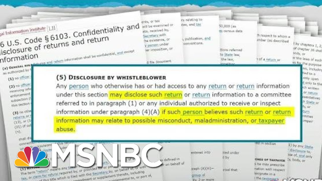 Report Suggests Possible Intimidation Of IRS Whistleblower | Rachel Maddow | MSNBC 10
