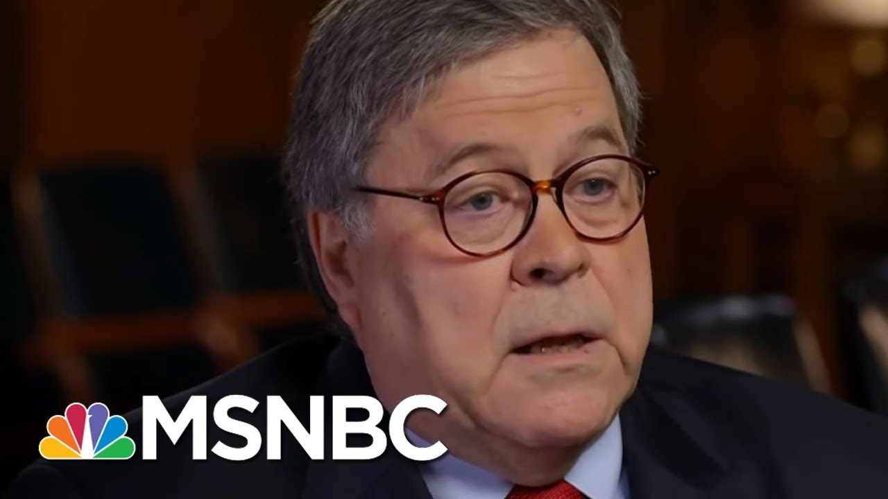 Frank Figliuzzi: Atty. General Barr Is Lying To America About Ukraine | The 11th Hour | MSNBC 8