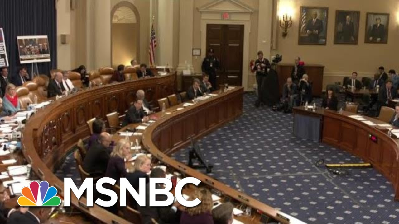 Historic Moment As House Judiciary Debates Articles Of Impeachment | The Last Word | MSNBC 2