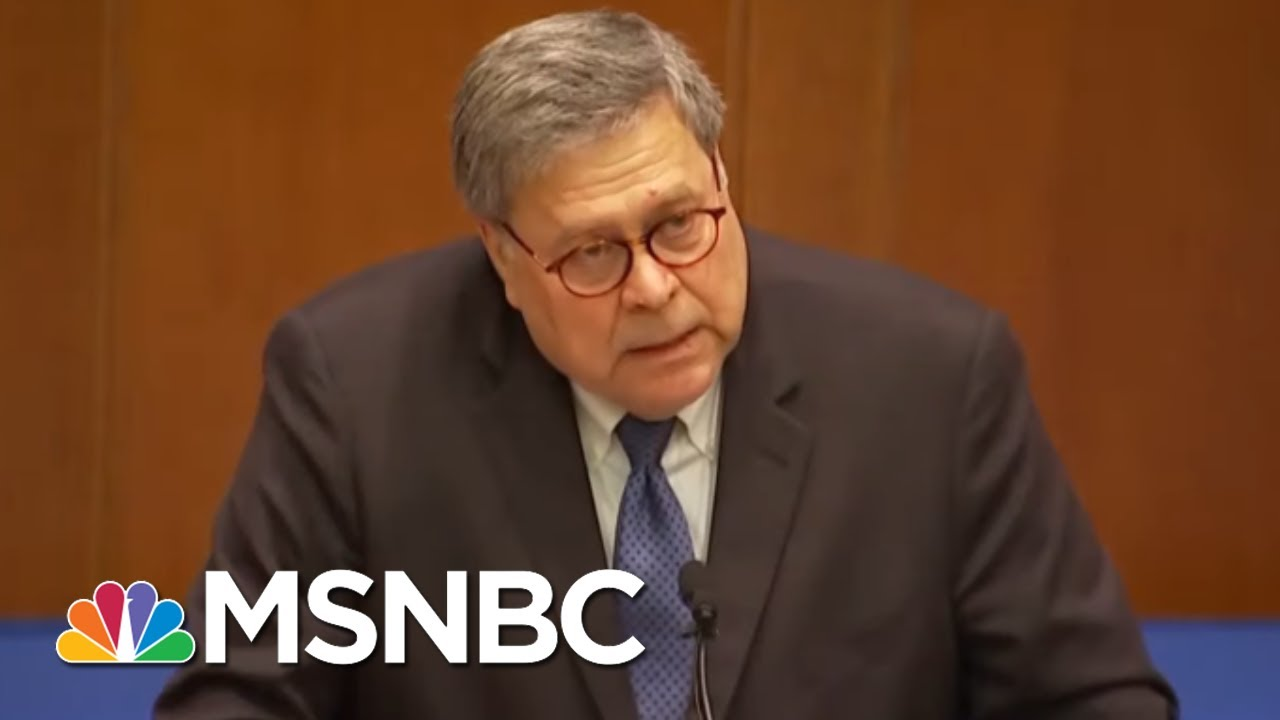 The Partisanship Of Attorney General Bill Barr - Day That Was | MSNBC 6