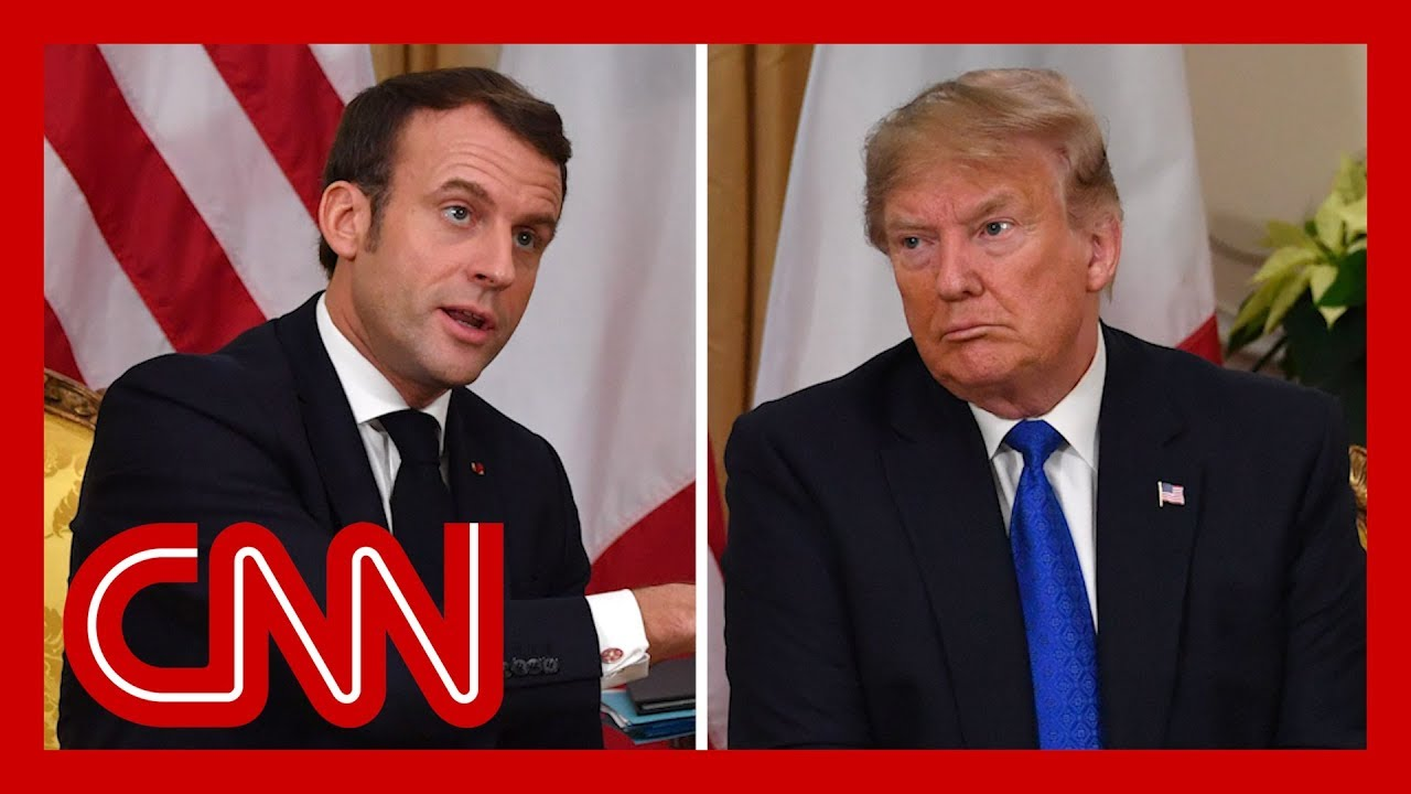 Trump and Macron clash during NATO summit meeting 6