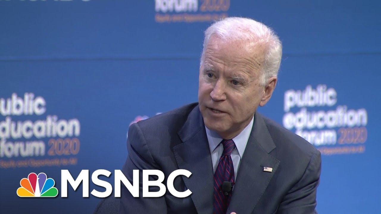 Joe Biden On How He'd Address Increasingly Segregated Schools | MSNBC 4