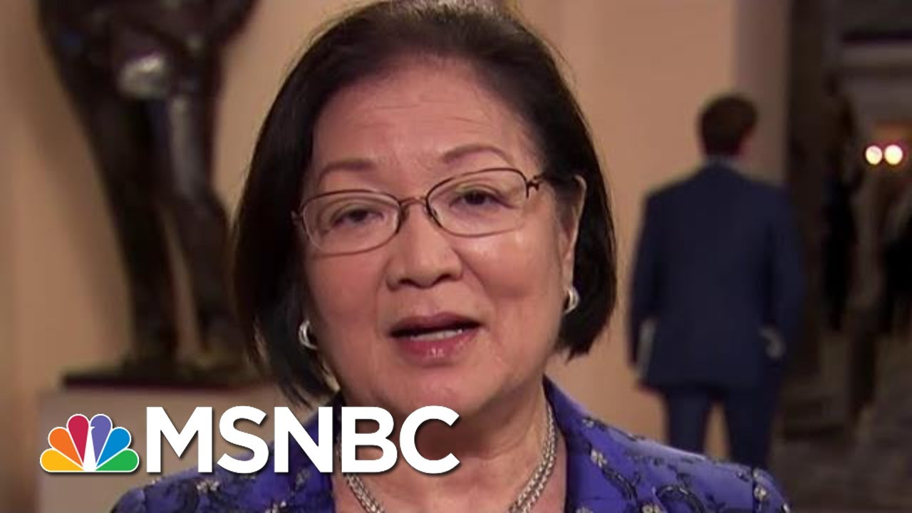Sen. Mazie Hirono On Impeachment, Legislation In The Works, Courts | Velshi & Ruhle | MSNBC 4