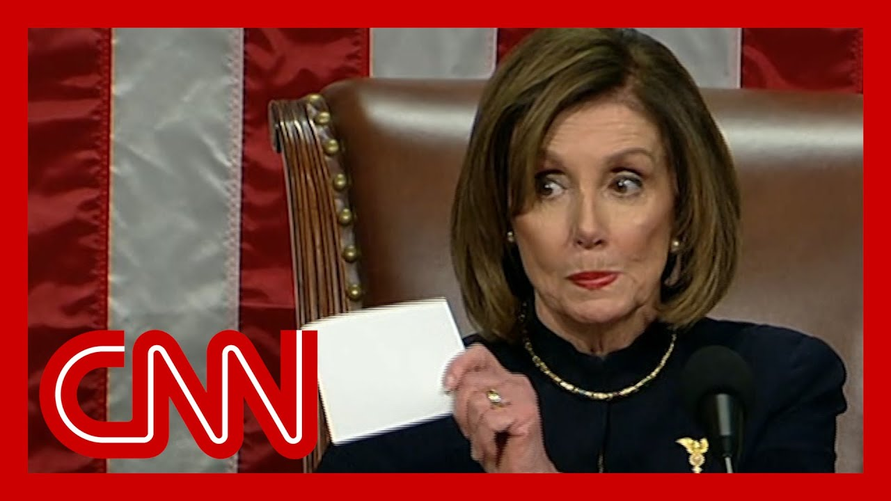See Pelosi's stern message to party after impeaching Trump 2
