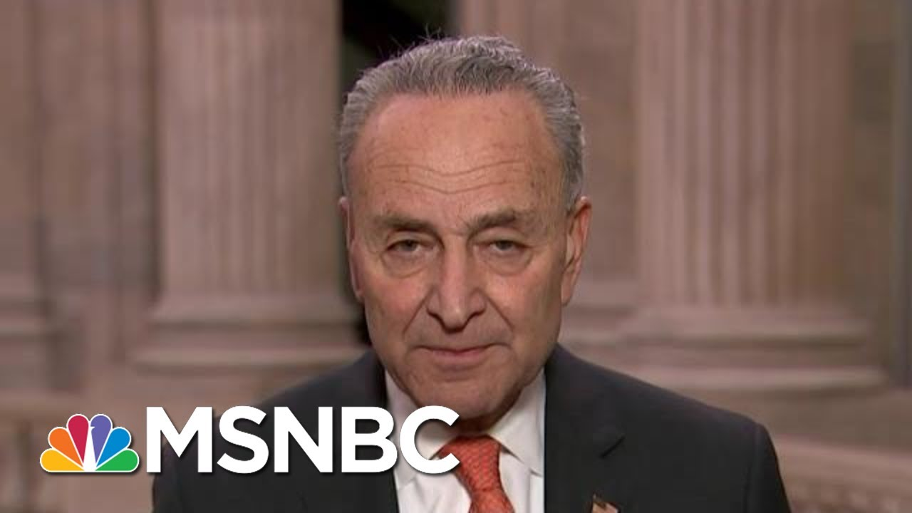 Sen. Chuck Schumer Says He'll Force Vote On Whether Mulvaney, Bolton Should Testify | All In | MSNBC 1