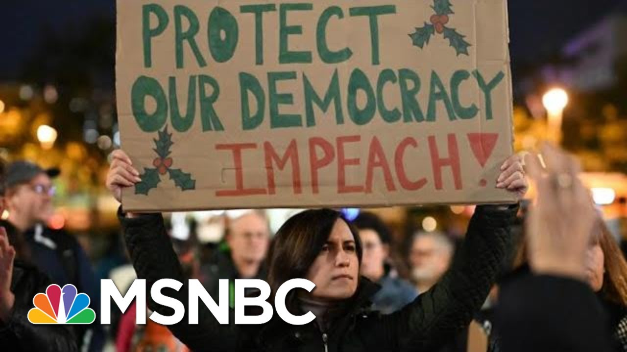 Thousands Brave Cold And Rain To Protest In Favor Of Trump's Impeachment | The 11th Hour | MSNBC 9