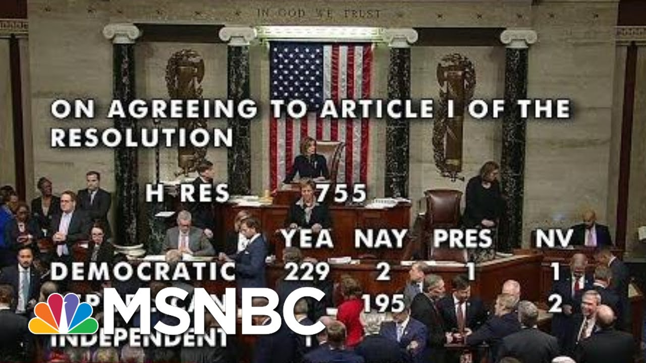 Donald Trump Impeached; Congress Passes Both Articles | Rachel Maddow | MSNBC 10