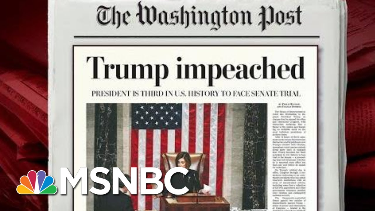 On Evening Of Impeachment, Trump In The Safe Space Of A Rally | Morning Joe | MSNBC 5