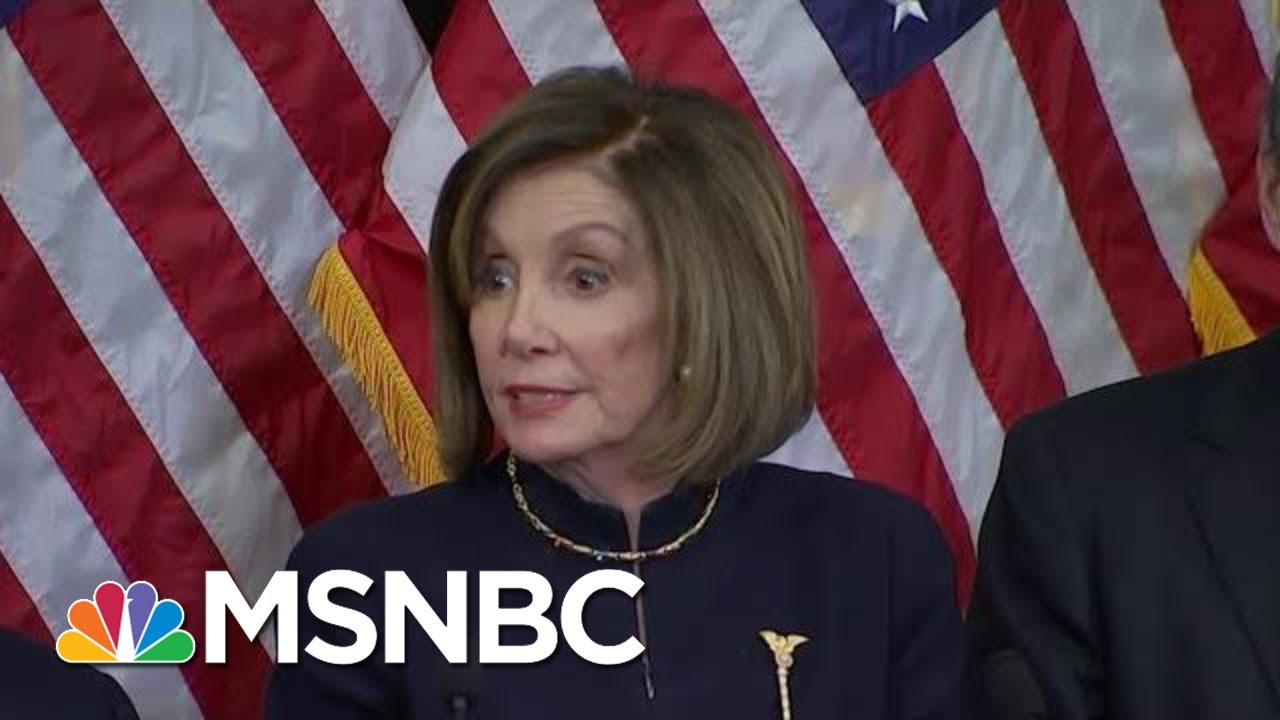 The Twist No One Saw Coming: Pelosi May Withhold Impeachment Articles | Deadline | MSNBC 4