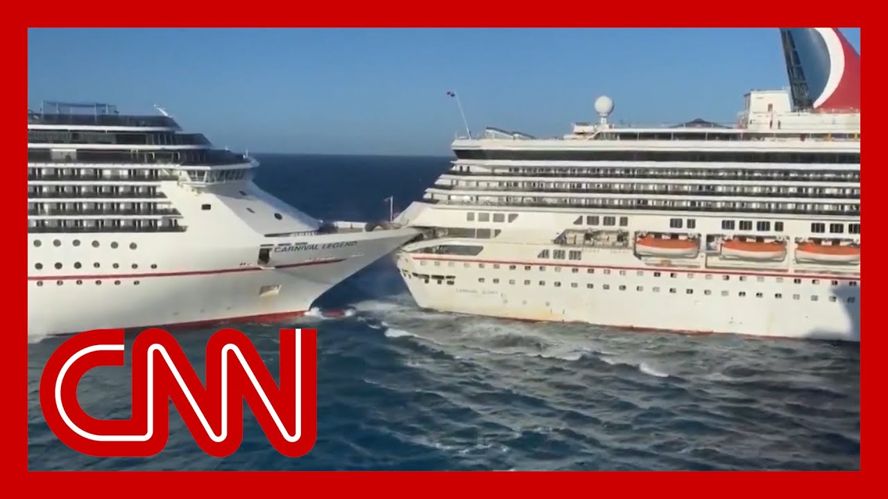 Watch two Carnival cruise ships collide 1