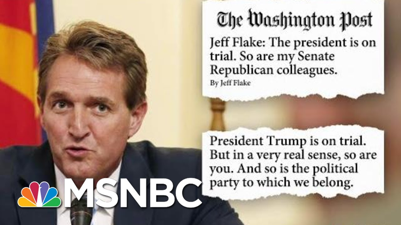Jeff Flake Writes Op-Ed Calling For 'Country Over Party' During Impeachment Trial | Hardball | MSNBC 3