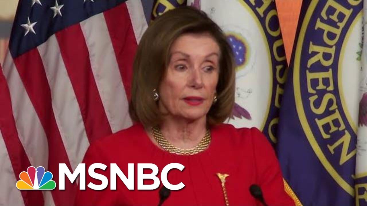 Nancy Pelosi Checks President Donald Trump | The Last Word | MSNBC 5