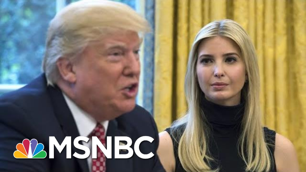 Dodging Giuliani Question, Ivanka Trump Channels De Niro From 'The Irishman' | The 11th Hour | MSNBC 8