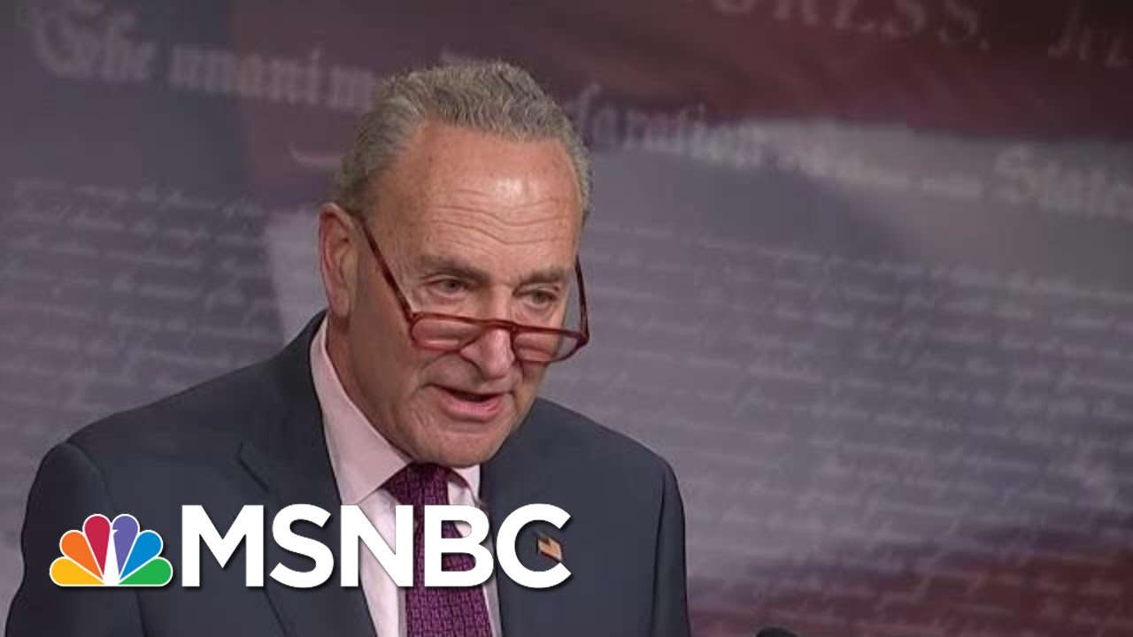 Schumer Outlines Specific Documents He Wants For The Impeachment Trial | Hallie Jackson | MSNBC 8